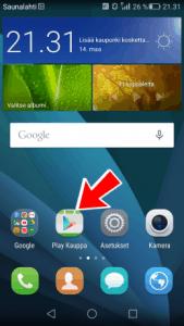 Google Play kaupan avaaminen Huawein puhelimella
