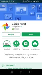Avaa Google Kuvat