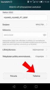 Määritä wifi-yhteyspisteen asetukset Huawei