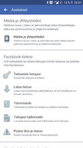 Facebook videoiden äänet pois