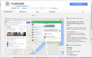 Pushbullet-laajennuksen asentaminen Google Chromeen