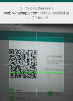 Lue WhatsApp QR-koodi puhelimella