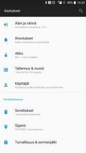 Android asetukset soittoääni