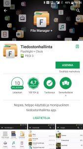 Asenna tiedostonhallinta Androidiin