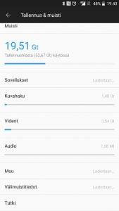 Tiedostojenhallinta Androidilla