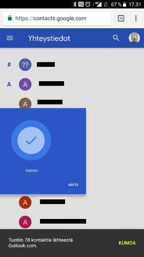 Yhteystietojen Siirto Lumiasta Androidiin