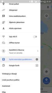 Google Maps aikajana