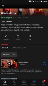 Netflix sarjan lataus offline-tilaa varten