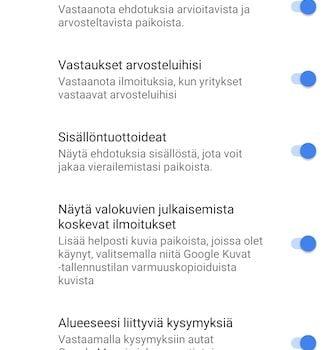 Google Maps ilmoitusten poistaminen