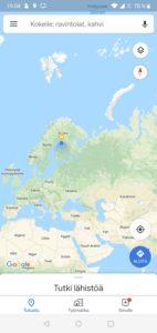 Google Mapsin arviointi-ilmoitusten poistaminen