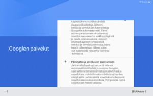 Googlen palveluiden käyttöönotto