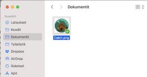 Leikkaa-liitä Macbook