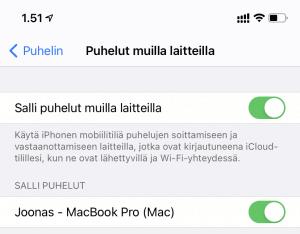 Macbook puhelut