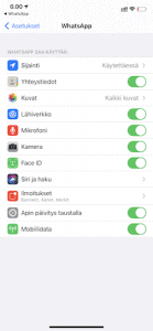 WhatsApp sijainnin jakaminen